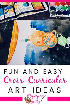 Sprinkle some creativity into math, science, language, and other core subjects with help from these fun and easy cross-curricular art ideas! Art Lessons For Kids, Artists For Kids, Art For Kids, Kindergarten Homeschool Curriculum, Homeschooling Resources, Drawing Games For Kids, Cross Curricular, Easy Cross, Cross Art