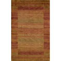 @Overstock - Hand-loomed in India of 100-percent wool, this open-backed rug is a versatile addition to any home decor. This Gabbeh rug features a striated stripe design in hues of orange, paprika, rust, sage, olive and brick.http://www.overstock.com/Home-Garden/Hand-loomed-Loft-Rust-Gabbeh-Wool-Border-Rug-76-x-96/6534914/product.html?CID=214117 $432.64