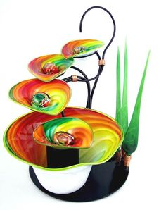 Blown glass fountain <3 <3 <3 !!!!