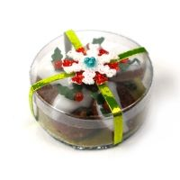 Doll's House Miniature Gift Box of Christmas Cookies - Christmas - DollHouse Miniature Food
