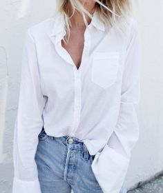 Denim White Shirt