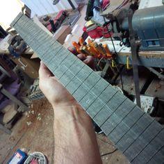 glued fretboard