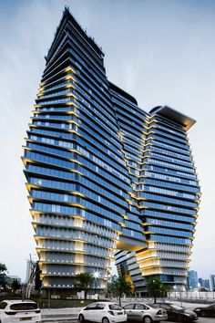 ron arad has completed 'ToHa', a large-scale office development in the center of tel aviv, which he worked on alongside local architect avner yashar Ron Arad, Unique Architecture, Futuristic Architecture, Amazing Buildings, Modern Buildings, Autocad, Facade Lighting, Solar Shades, Glass Facades