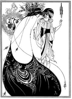 The Peacock Skirt, Illustration from Salome, 1894 - Aubrey Beardsley, English Illustrator 1872 - 1898