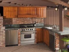 HGTV.com has pictures and ideas for unique and functional outdoor kitchen cabinetry in a variety of styles and materials.