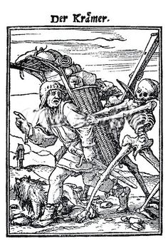 Medieval woodcuts are pretty evocative, too...
