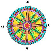 Compass Rose Art - Compass Rose by Jennifer Thermes