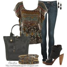 tribal, created by stacy-gustin on Polyvore