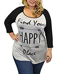 New Lexington Avenue Lexington Ave Women Plus-Size 3/4 Sleeve Shirt - Find Your Happy Place Print online. Find the perfect Allegra K Tops-Tees from top store. Sku GGGX25589PTNT80788