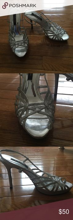Only wore once!! Sparkly heels Nina Shoes Heels
