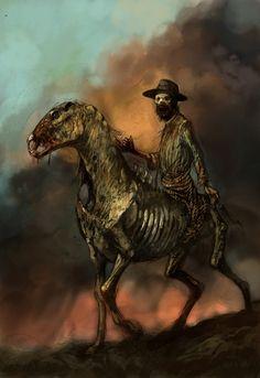 zombie on zombie horse