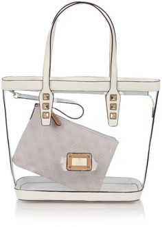 7071b1e562f7 Image Name  Guess Logo Remix Clear Plastic Tote Bag in Transparent (melange  grey) File Size  427 x 427 pixels bytes) Image Name  Logo.