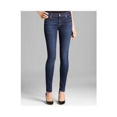 7 FOR ALL MANKIND The Skinny in La Verna Lake Jeans  SPECIAL PRICE: $151.20 via savoirmode.com  #savoirmode #fashion #look #deals #firstmarkdown #freshdeals #shop #denim #jeans #skinny