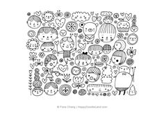 Happy Doodle Land Artworks And Doodles By Flora Chang