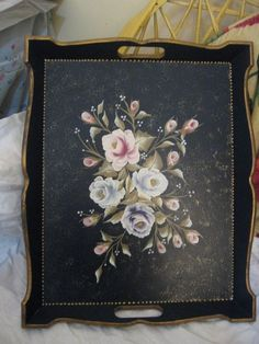 Dyi Crafts, Crafts To Do, Chabby Chic, Unique Roses, One Stroke Painting, Furniture Restoration, Folk Art, Stencils, Decorative Boxes
