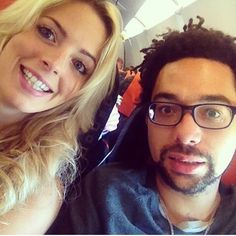 Crissie and Ben of The Shires on the plane to Edinburgh in #celeb# country# countrymusic# edinburgh# music# theshires in phlow