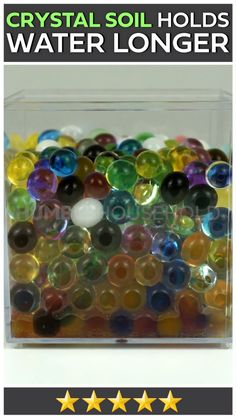 Magic soil is a revolutionary new soil replacement for plants. These polymer gel balls absorb water and turn into colorful shining beads that directly provide water nutrients to plant roots.