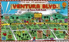 So many things to do and see! Ventura Boulevard is the place to be! Ventura Boulevard, San Fernando Valley, Urban Park, Woodland Hills, Studio City, Have You Ever, Map Art, Back In The Day, Southern California