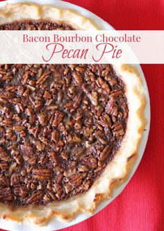 My Southern heart skipped a beat when I ate my first slice of my Bacon Bourbon Chocolate Pecan Pie.