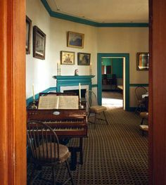 George Washington's Mount Vernon Little Parlor, Alexandria, Virginia, USA