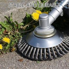 Twisted Knotted Wire Wheel Brush Steel Rotary Weed Garden Cutting Machine Part Landscaping Tools, Backyard Landscaping, Yard Tools, Garden Cottage, Lawn Care, Cool Tools, Garden Projects, Motor, Clean House