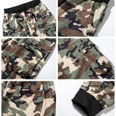 Mens Camo Printing Knitted Drawstring Zipper Pocket Casual Sport Shorts