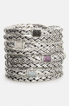 John Hardy 'Classic Chain - Kepang' Double Wrap Chain Bracelet (Nordstrom Exclusive) available at #Nordstrom (black sapphire)