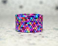 Custom Made Peyote Rings by PeyoteRings Peyote Beading, Beadwork, Beading Patterns, Peyote Patterns, Peyote Stitch Tutorial, How To Make Rings, Beaded Jewelry Designs, Bead Loom Bracelets, Beaded Rings