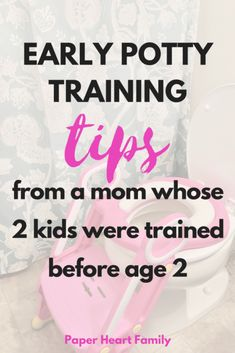 These early potty training tips take the difficulty out of toilet training! Seriously so easy and practical. Learn how this mom potty trained her kids before age 2! You can start these tips with your baby, boy or girl.