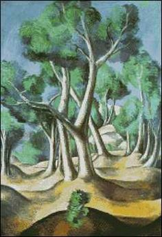 Grove- Andre Derain. Fine art cross stitch pattern.  Stitch count 175w x 255h 48 colors http://www.artofstitching.com/index.php?main_page=product_info&cPath=4_9&products_id=1144