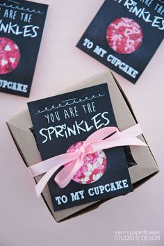 free printable - to include with mini cupcakes for the classroom *and* a cupcake box for the teacher