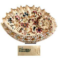 Fisher antique porcelain platter. Hungary ca 1880