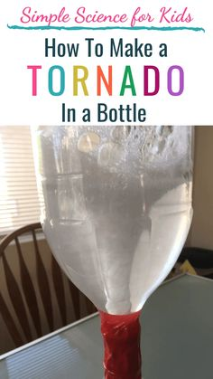 Make a tornado in a bottle! Learn how tornadoes form with this simple sensory STEM activity for kids. A perfect STEM experiment for toddlers, for preschool, for kindergarten, and up! Plus get more weather science activities to keep your kids busy at home. Science Experiments For Preschoolers, Preschool Science Activities, Science Activities For Kids, Learning Activities, Science Toddlers, Science Fun, Kid Experiments At Home, Physical Science, Science Classroom