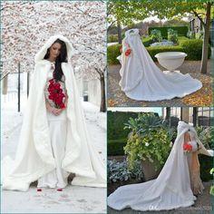 2017 New Fashion Warm Bridal Cape White Ivory Winter Fur Wedding Bridal Cloaks Wedding Coat Bridal Wraps Jackets Custom Made Jacket Winter Wedding Cloak Bridal Cape Online with $99.43/Piece on Fashionhouse2020's Store | DHgate.com