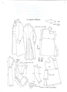 Period uniform patterns - Armchair General and HistoryNet >> The Best Forums in History Coat Pattern Sewing, Coat Patterns, Pattern Drafting, Clothing Patterns, Sewing Patterns, Historical Costume, Historical Clothing, Diy Clothing, Sewing Clothes