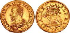 ITALY, Piacenza (ducato). Alessandro Farnese. 1586-1592. AV 2 Doppia (41mm, 13.18 g, 12h). Dated 1590 AC.