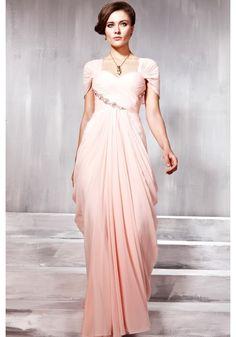 Lovely Modest Pink Sweetheart Prom Dress