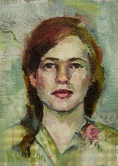 "Daily Paintworks - ""Flower Lapel"" - Original Fine Art for Sale - © Katie Wilson"