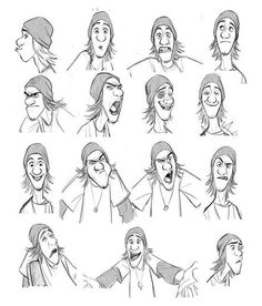 """""""Fred"""" by Jin Kim* Expression Sheet 