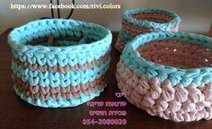 Aqua pink small baskets