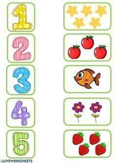 Printable Preschool Worksheets, Kindergarten Math Worksheets, Toddler Worksheets, Number Worksheets, Preschool Writing, Numbers Preschool, Preschool Colors, Learning Numbers, Preschool Learning Activities