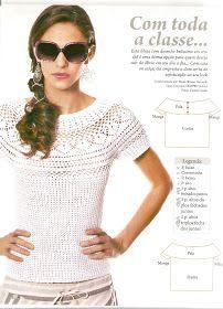 Delicada prenda de belleza singular en tono blanco con distintas tramas tejidas con paso a paso y molde