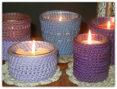 Crochet Candle Covers