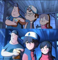 How Gravity Falls would look like in Anime Version. Eh pretty decent I suppose. Dipper looks the MOST like anime to me Gravity Falls Anime, Gravity Falls Fan Art, Gravity Falls Comics, Gravity Falls Dipper, Anime Vs Cartoon, Cartoon Shows, Cartoon Art, Monster Falls, Fall Anime