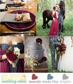 Marsala | 2015 Pantone Color of the Year - Summer Inspiration - Marsala, Smoke Blue and Dolphin