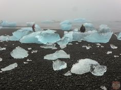 Iceberg on Jokulsarlon Beach Photo 2