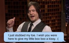 The Reedus: Norman Reedus reads BroApp messages on the Tonight...