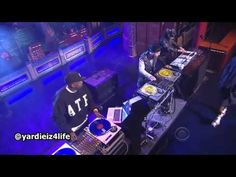 This shit is cool. 3 djs that do more live than S.H.M lol and watch the guy on far right. AWESOME   A$AP Rocky Performs On The Late Show With David Letterman