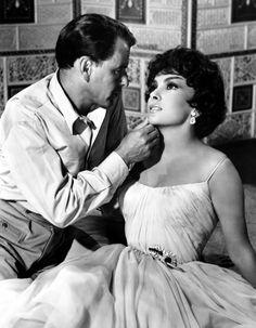 Gina Lollobrigida and Frank Sinatra