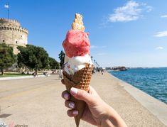 Enjoying an ice-cream - Thessaloniki - Greece Alexander The Great Statue, Greek Girl, Thessaloniki, Greek Islands, Listening To Music, Cool Pictures, Greece, Ice Cream, Sweet